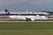 D-AEBC Lufthansa CityLine Embraer ERJ-195 at Malpensa (MXP / LIMC), Milan, Italy