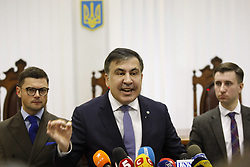 January 3, 2018 - Kiev, Ukraine - Former Georgian president and ex-Odessa Governor MIKHEIL SAAKASHVILI speaks during an appeal court hearing in Kiev, Ukraine, on 3 January 2018. The court, that was to consider the appeal of the prosecutor's office against the decision of the Kiev district court which released the Saakashvili from custody, postponed the hearing to January 11, 2018. (Credit Image: © Serg Glovny via ZUMA Wire)
