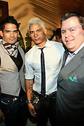 Sang, Sung, and Jeff Marcanzzo at The Giant Magazine Party, celebrating cover girl Kimora Lee Simmons and new Editor-in-Chief Emil Wilbekin, the award-winning editor as he unveils his debut issue.