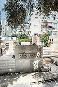 Hayim Nahman Bialik grave in the old cemetery in Trumpeldor street, Tel Aviv, Israel