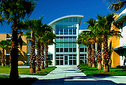 Dormitory building on the campus of the Pinellas Job Corps Center in Saint Petersburg, Florida.  Photographed for J. Kokolakis.