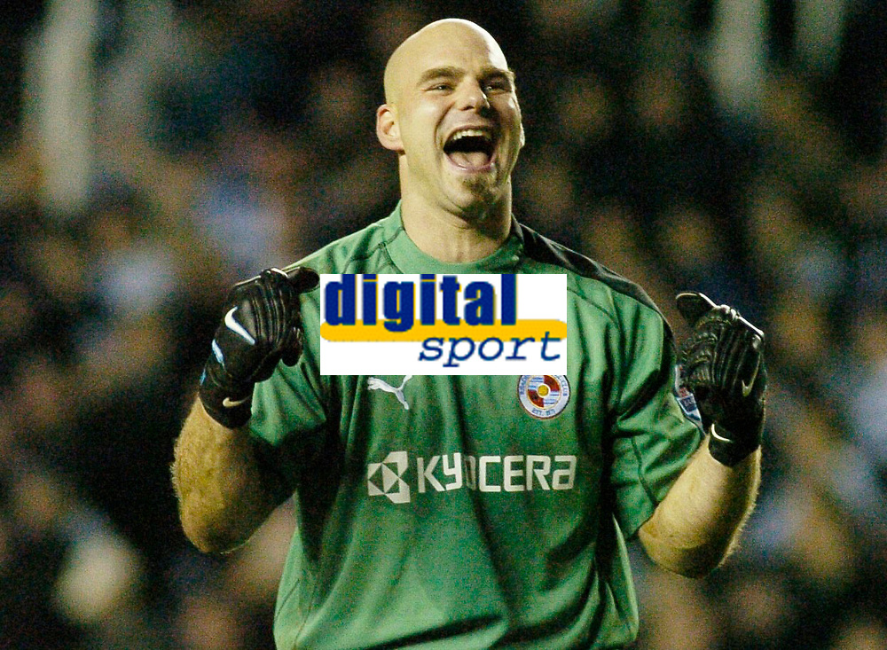 Photo: Gareth Davies.<br />Reading v Bolton Wanderers. The Barclays Premiership. 02/12/2006.<br />A delighted Marcus Hahnemann of Reading after seeing his side win 1-0 against Bolton.