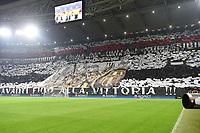 coreografia tifosi Juventus Supporters<br /> Torino 23-02-2016 Juventus Stadium, Football Champions League 2015/2016 Round of 16 Juventus - Bayern Munich / Juventus - Bayern Monaco .  Foto Image Sport / Insidefoto