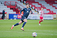 Morecambe forward Cole Stockton (9) chases the ball during the EFL Sky Bet League 2 match between Stevenage and Morecambe at the Lamex Stadium, Stevenage, England on 6 February 2021.