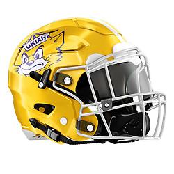 Ukiah High School Football Helmet
