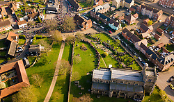 Crowds gather for the funeral of Prodigy Frontman Keith Flint at St Mary's Church in the village of Bocking, just outside Braintree in Essex. Bocking, Essex, March 29 2019.