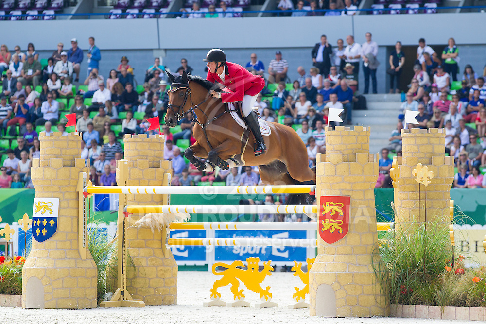 Jos Verlooy, (BEL), Domino - First Round Team Competition Jumping Speed - Alltech FEI World Equestrian Games™ 2014 - Normandy, France.<br /> © Hippo Foto Team - Leanjo De Koster<br /> 03-09-14