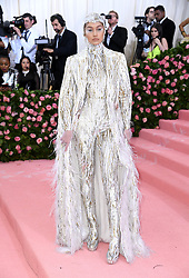 "Gigi Hadid at the 2019 Costume Institute Benefit Gala celebrating the opening of ""Camp: Notes on Fashion"".<br />