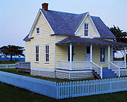 Henry Pigott House, buit in approximately 1900, home to mail carrier and last male resident of Portsmouth Village, Cape Lookout National Seashore, North Carolina.