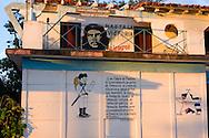 Revolutionary signs in Vinales, Pinar del Rio, Cuba.