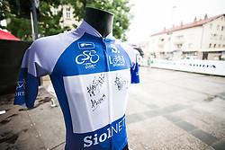 Blue jersey of 26th Tour of Slovenia 2019 cycling race between Trebnje and Novo mesto (167,5 km), on June 23, 2019 in Slovenia. Photo by Peter Podobnik / Sportida