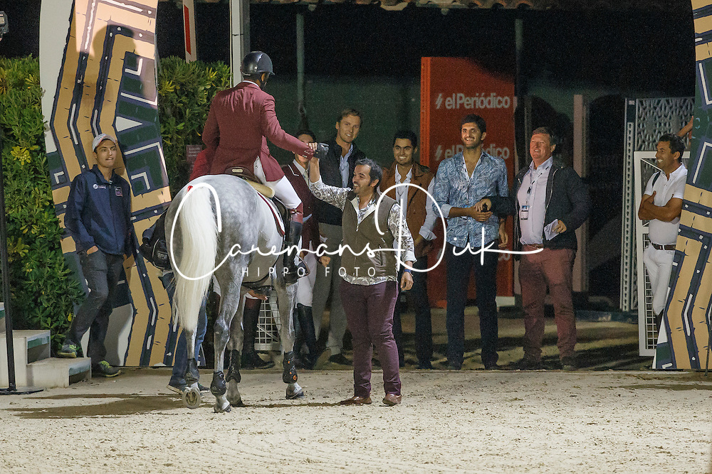 Mohammed Bassem Hassan, (QAT), California, FEI President<br /> Logines Challenge Cup<br /> Furusiyya FEI Nations Cup Jumping Final - Barcelona 2015<br /> © Dirk Caremans<br /> 25/09/15