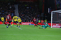 Football - 2019 / 2020 Emirates FA Cup - Fourth Round: AFC Bournemouth vs. Arsenal<br /> <br /> Eddie Nketiah of Arsenal strokes in Arsenals second goal during the FA Cup match at the Vitality Stadium (Dean Court) Bournemouth <br /> <br /> COLORSPORT/SHAUN BOGGUST