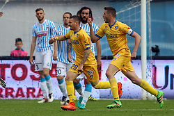 "Foto Filippo Rubin<br /> 26/03/2017 Ferrara (Italia)<br /> Sport Calcio<br /> Spal vs Frosinone - Campionato di calcio Serie B ConTe.it 2016/2017 - Stadio ""Paolo Mazza""<br /> Nella foto: GOAL DI CIOFANI<br /> <br /> Photo Filippo Rubin<br /> March 26, 2017 Ferrara (Italy)<br /> Sport Soccer<br /> Spal vs Frosinone - Italian Football Championship League B ConTe.it 2016/2017 - ""Paolo Mazza"" Stadium <br /> In the pic: CIOFANI GOAL"