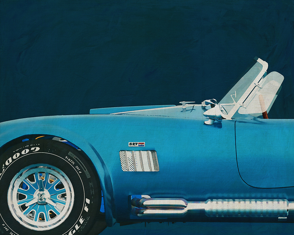 When you meet a 1965 Ford AC Cobra 427 Shelby on the road, your breath stops. What a beautiful machine. Its lines, its engine roar, its iconic predecessors. Everything a car needs. –<br /> <br /> <br /> BUY THIS PRINT AT<br /> <br /> FINE ART AMERICA<br /> ENGLISH<br /> https://janke.pixels.com/featured/ford-ac-cobra-427-shelby-1965-jan-keteleer.html<br /> <br /> WADM / OH MY PRINTS<br /> DUTCH / FRENCH / GERMAN<br /> https://www.werkaandemuur.nl/nl/shopwerk/Ford-AC-Cobra-427-Shelby-1965/528853/132