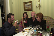 Dale Winton, Tara Palmer-Tompkinson, Hugo Spear  and  Cilla Black. Nicky Haslam celebrated his birthday by throwing a party for Jerry Hall. dorchester Club. 1 October 2000. © Copyright Photograph by Dafydd Jones 66 Stockwell Park Rd. London SW9 0DA Tel 020 7733 0108 www.dafjones.com