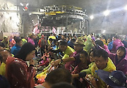 200 visitors stranded on Mount Huashan in west China after a strong gale<br /> <br /> Stranded tourists at Mount Huashans west peak;<br /> Almost 500 tourists were stranded on top of a mountain after its cable car service was suspended due to gale-force winds.<br /> The management office of Mount Huashan, near the city of Huayin in north-western Chinaâs Shaanxi Province, continued to allow large amounts of tourists up its cableway during the third day of the countrys National Day celebrations when wind forces were recorded at six to seven.<br /> But the strength rose to force eight and nine in the evening, and more than 400 tourists still on the mountainâs west peak were told they could no longer use the cable cars to travel down the 1,700-metre (5,577-foot) mountain.<br /> Authorities eventually encouraged tourists to walk down the mountain on foot or use the north cableway instead, but a large number of elderly tourists were unable to make the journey under the windy and rainy conditions.<br /> ©Exclusivepix Media