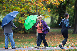 ©Licensed to London News Pictures 29/10/2020  <br /> Greenwich, UK. People out and about in Greenwich Park, London. October is set to be the wettest month in years as an Atlantic storm brings wet and windy weather to parts of the UK today. Photo credit:Grant Falvey/LNP