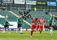 GOAL 1-2 Sunderland Midfielder Chris Maguire (7) scores from the penalty spot and celebrates a goal  during the EFL Sky Bet League 1 match between Plymouth Argyle and Sunderland at Home Park, Plymouth, England on 1 May 2021.