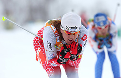 Petra Majdic of Slovenia at Ladies` Pursuit 7,5 km Classic + 7,5 km Free at FIS Nordic World Ski Championships Liberec 2008, on February 21, 2009, in Vestec, Liberec, Czech Republic. (Photo by Vid Ponikvar / Sportida)