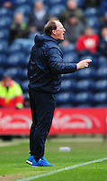 Preston North End manager Simon Grayson vents his frustration at Referee Andy Woolmer<br /> <br /> Photographer Chris Vaughan/CameraSport<br /> <br /> Football - The Football League Sky Bet Championship - Preston North End v Queens Park Rangers - Saturday 19th March 2016 - Deepdale - Preston <br /> <br /> © CameraSport - 43 Linden Ave. Countesthorpe. Leicester. England. LE8 5PG - Tel: +44 (0) 116 277 4147 - admin@camerasport.com - www.camerasport.com