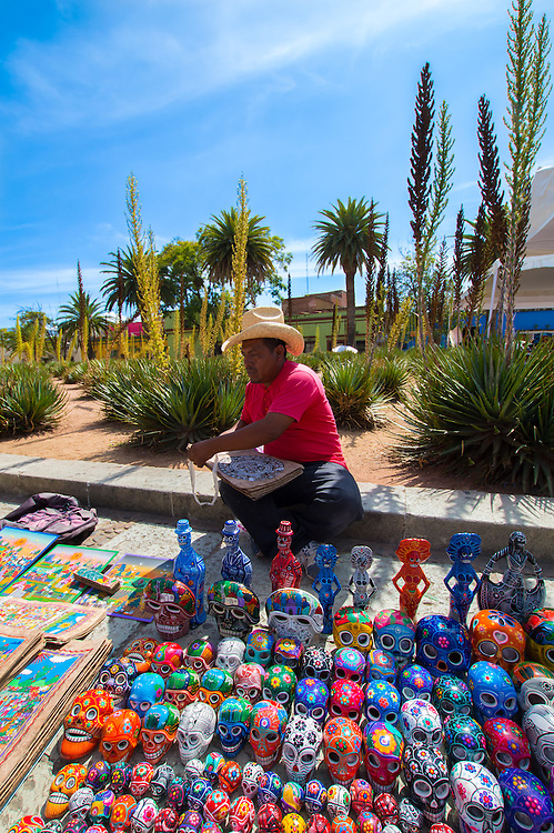 Handcrafter at the streets of Oaxaca.