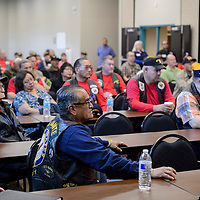 Local veterans and state politicians gathered at the Second Street Events Center in Gallup, Wednesday, to discuss issues such as the building of a VA cemetery in Gallup.