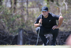 March 21, 2018 - Austin, TX, U.S. - AUSTIN, TX - MARCH 21: Patrick Reed (USA) looks over the green during the First Round of the WGC-Dell Technologies Match Play on March 21, 2018 at Austin Country Club in Austin, TX. (Photo by George Walker/Icon Sportswire) (Credit Image: © George Walker/Icon SMI via ZUMA Press)