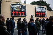 Italian fascist party CasaPound activists take part in the parade commemorating the 40th anniversary of the massacre of Acca Larentia, where three MSI activist were killed, on January 07, 2018 in Rome. Christian Mantuano / OneShot<br /> <br /> Commemorazione per i 40 anni dalla strage di Acca Larentia, dove vennero uccisi dei militanti del Fronte della Gioventù davanti la sede del Movimento Sociale Italiano, Roma 07 Gennaio 2018. Christian Mantuano / OneShot