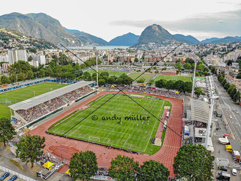 14.07.2019; Lugano; FUSSBALL - FC Lugano - FC Internazionale Mailand; Uebersicht Stadion Cornaredo San Salvatore (Andy Mueller/freshfocus)
