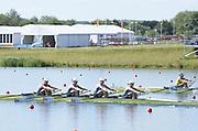Eton Dorney, Windsor, Great Britain,..2012 London Olympic Regatta, Dorney Lake. Eton Rowing Centre, Berkshire[ Rowing]...Description;  GBR W4X Race start GBR W4X.   10:00:08  Saturday  28/07/2012.[Mandatory Credit: Peter Spurrier/Intersport Images].