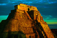 Pyramid of the Magician, Uxmal archaeological site, Yucatan Peninsula, Mexico