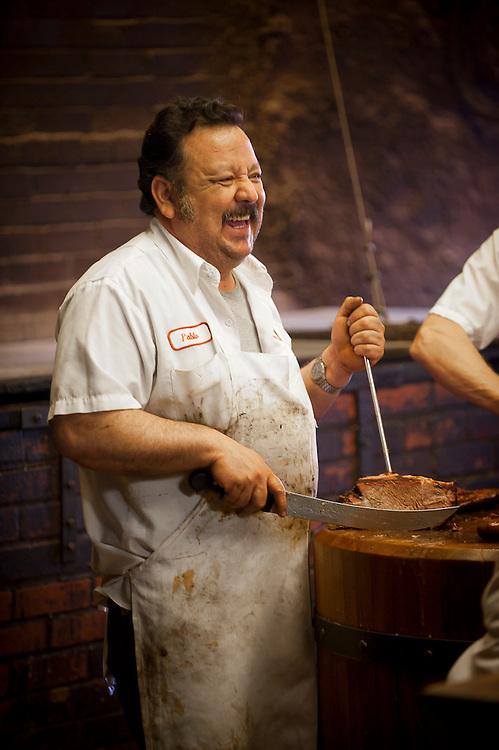Pablo at Smitty's Market, Lockhart, Texas.