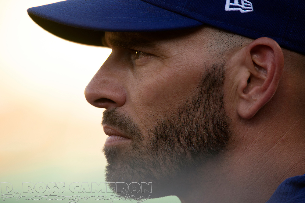 Jul 27, 2019; Oakland, CA, USA; Texas Rangers manager Chris Woodward watches his team take on the Oakland Athletics during the second inning of a baseball game at Oakland Coliseum. Mandatory Credit: D. Ross Cameron-USA TODAY Sports
