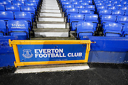 General View of an Everton club crest inside Goodison Park - Photo mandatory by-line: Rogan Thomson/JMP - 07966 386802 - 03/12/2014 - SPORT - FOOTBALL - Liverpool, England - Goodison Park - Everton v Hull City - Barclays Premier League.