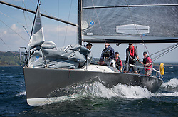 Sailing - SCOTLAND  - 25th-28th May 2018<br /> <br /> The Scottish Series 2018, organised by the  Clyde Cruising Club, <br /> <br /> First days racing on Loch Fyne.<br /> <br /> SWE18325, Wild Haggis, Ewan and Jackie Mackay, Loch Lomond SC, Farr 30<br /> <br /> Credit : Marc Turner<br /> <br /> <br /> Event is supported by Helly Hansen, Luddon, Silvers Marine, Tunnocks, Hempel and Argyll & Bute Council along with Bowmore, The Botanist and The Botanist