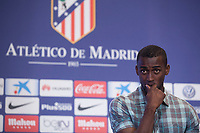 Atletico Madrid's new Colombian striker Jackson Martinez during his presentation as new player of the Spanish Primera Division soccer club at Vicente Calderon stadium in Madrid, Spain. July 26, 2015. (ALTERPHOTOS/Victor Blanco)
