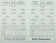All Ireland Senior Hurling Championship Final,.02.09.1962, 09.02.1962, 2nd September 1962,.Minor Tipperary v Kilkenny, .Senior Wexford v Tipperary, Tipperary 3-10 Wexford 2-11, ..Irish Independent, .Wexford,.P Nolan, T Neville, N O'Donnell, E Colfer, J English, W Rackard (Capt), J Nolan, P Wilson, M Lyng, J O'Brien, P Kehoe, P Lynch, O McGrath, E Wheeler, T Flood, M Bergin, J Mitchell, J Kennedy, J English, H Doyle, ..Tipperary, .D O'Brien, J Doyle, M Maher, K Carey, M O'Gara, A Wall, M Burns, T English, L Devaney, J Doyle (Capt), J McKenna, T Ryan, D Nealon, T Moloughney, S McLoughlin, M Hassett, R Mounsey, T Ryan, L Connolly, R Slevin,