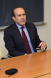 Turkish Ambassador to the United States, His Excellency Namik Tan visit to Yale University. Speaking to Turkish Yale Students during an informal meeting at Luce Hall | 6 December 2012