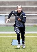 Ferns Katie Hoyle training. Football Ferns Media and Training Session, QBE Stadium Auckland, Wednesday 12th November 2014. Photo: Shane Wenzlick