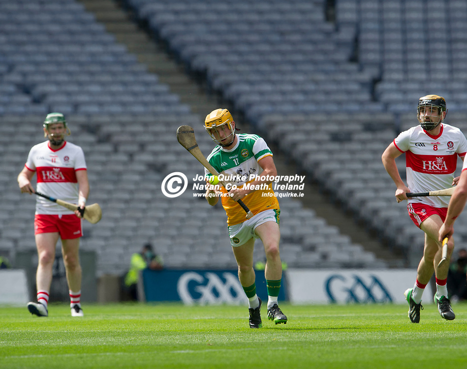01–08-21.<br /> Derry v Offaly - Christy Ring Cup Final at Croke Park.<br /> Liam Langton, Offaly in action against Derry in the Christy Ring Cup Final.<br /> Photo: the John Quirke / www.quirke.ie<br /> ©John Quirke Photography, 16 Proudstown Road, Navan. Co. Meath. (info@quirke.ie / 046-9028461 / 087-2579454).