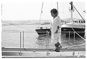 ELIZABETH TAYLOR, , Party in the harbour on Rupert Murdoch's yacht.  Forbes weekend, TANGIER 1989