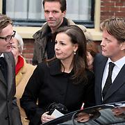 NLD/Wassenaar/20080403 - Herdenkingsdienst Erik Hazelhoff Roelfzema, prins Pieter - Christiaan en prinses Anita in gesprek met prins Bernhard Jr.