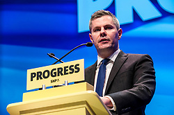 Pictured: Derek Mackay, Cabinet Secretary for Finance and the Constitution<br /> The members of the SNP gathered in the Scottish Events Centre in Glasgow for their annual conference.<br /> <br /> The Ger Harley   EEm 9 October 2017