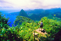 View from the top of Gros Piton (peak), (Petit Piton in back), St. Lucia