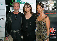 Stars Peter Mullan, Emily Mortimer (centre) and Therese Bradley arrive at the UGC cinema for the gala screening of their latest film 'Young Adam'. The screening marks the opening of the annual Edinburgh International Film Festival which runs until 24th August..