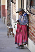 mature Indigenous woman in La Paz, Bolivia