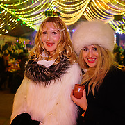 London, England, UK. 16th November 2017. Basia Briggs and Sarah-Louise Robertson attend the VIP launch of Hyde Park Winter Wonderland 2017 for a preview. tomorrow is opening for the public