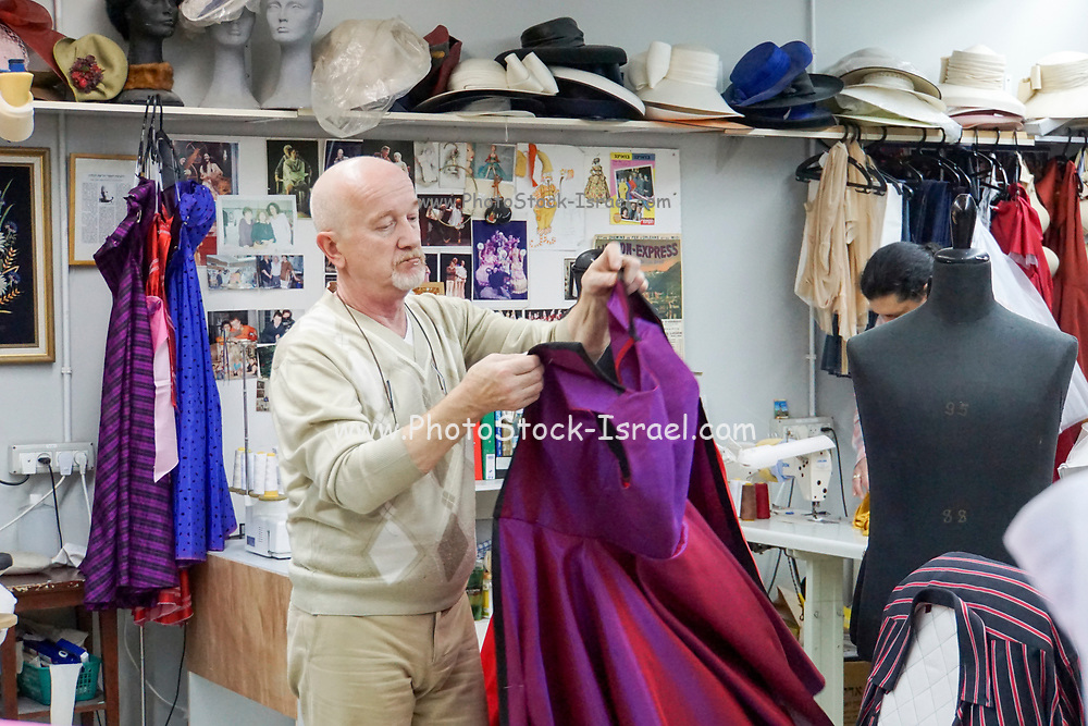 Dressmaker's workshop at a theatre. Photographed in the Cameri Theatre, Tel Aviv, Israel