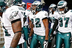 Philadelphia Eagles cornerback Asante Samuel #22 enters the field before the NFL game between the Philadelphia Eagles and the New York Jets on September 3rd 2009. The Jets won 38-27 at Giants Stadium in East Rutherford, NJ.  (Photo By Brian Garfinkel)